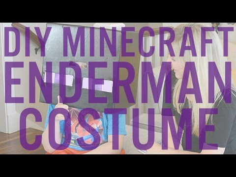 How to Light a Minecraft Enderman Halloween Costume & Enchanted Sword