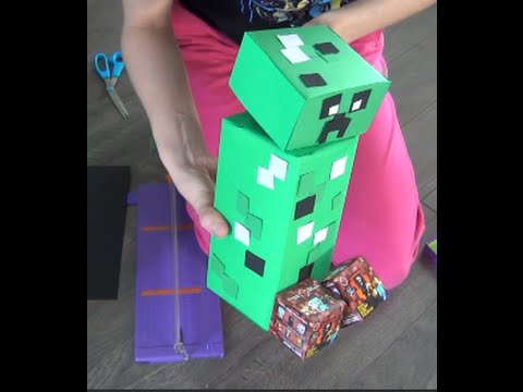 Minecraft Creeper DIY- Easy Gift ideas – DIY Minecraft Tutorial – Household items for a rocking gift
