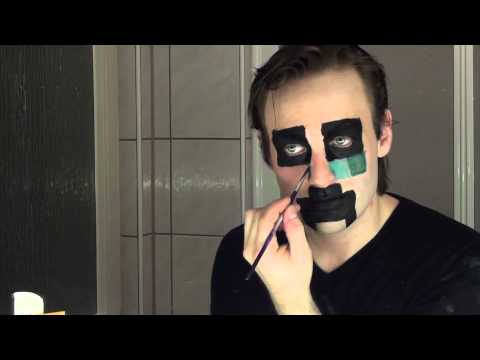 Halloween / Faschings Makeup: Creeper aus Minecraft