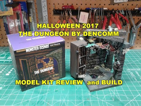 Dencomm The Dungeon Model Kit Build Review HAPPY HALLOWEEN DEN-640
