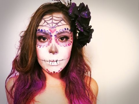 Day of the Dead Halloween Makeup Speed Art