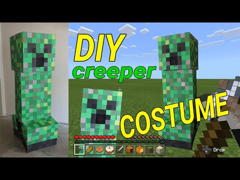 Minecraft Creeper Costume Tutorial | Some Fail ?