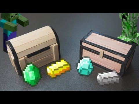 DIY Minecraft Chest With Popsicle Sticks! l Craft Ideas