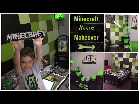 Minecraft Room Makeover | DIY Minecraft Decor for Bedroom