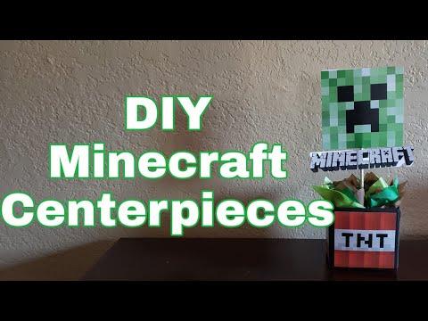 DIY Minecraft Centerpiece