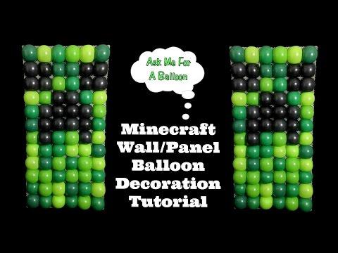 Minecraft Balloon Wall – Balloon Decoration Tutorial