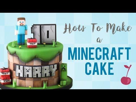 Minecraft Cake Tutorial   How To   Cherry School