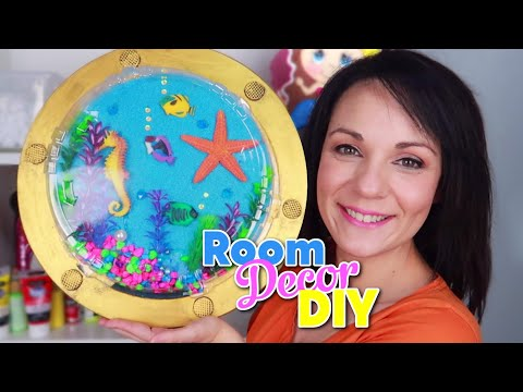ROOM DECOR DIY | SUPER CUTE crafts to decorate your room |Make a magic window to see the ocean floor
