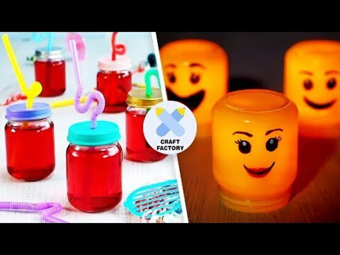 8 Glass Jar Crafts Perfect For Parents | Easy Craft Ideas | Craft Factory