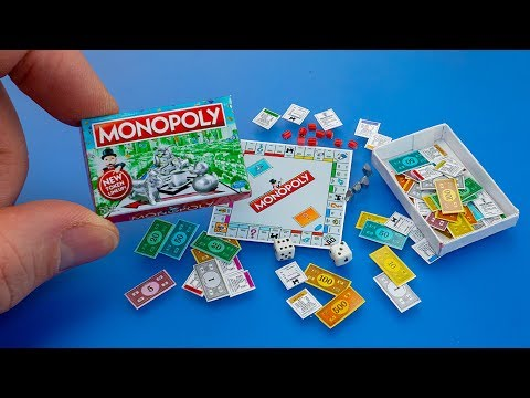 How to make a mini Monopoly Game with box diy dollhouse accessories – Tutorial for Barbie doll