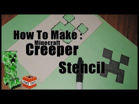 DIY    Minecraft Creeper Stencil