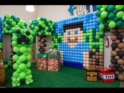FIESTA DE MINECRAFT |DECORACIO|ADORNAR|PARTY|IDEAS|MESA DE DULCES|2017|MIN CRAFT