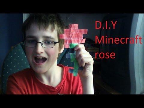 DIY minecraft rose
