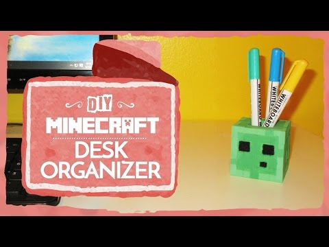 Minecraft: Slime Desk Organizer (DIY)