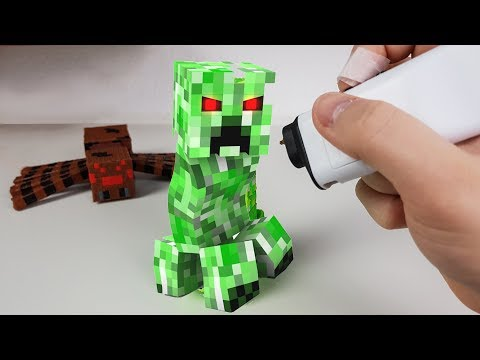 3D Pen Making a Minecraft Creeper with 3DSimo Mini