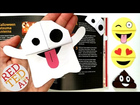 Easy Ghost Emoji Bookmark – Snapchat Ghost DIY – Perfect for Halloween