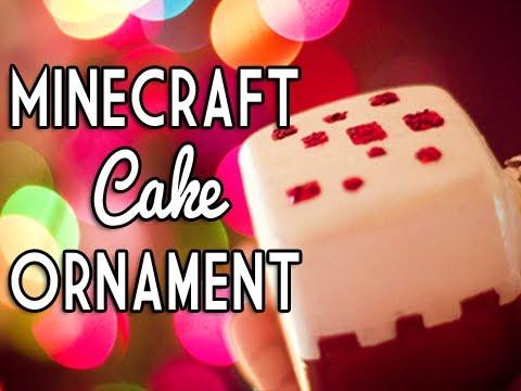 Minecraft Cake Ornament – DIY