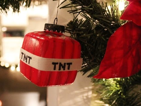 Minecraft : TnT Christmas Ornament – DIY Geeky Goodies