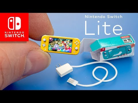 Mini Nintendo Switch Lite Console dollhouse miniatures diy Tutorials