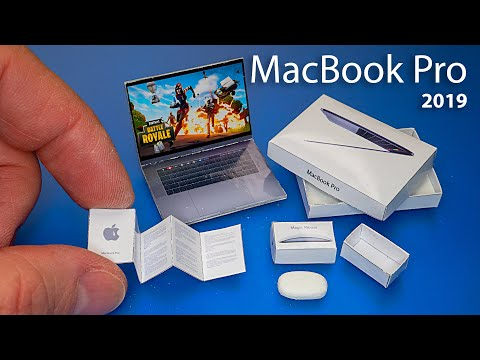 DIY How to make MacBook pro 2019 laptop Dollhouse CRAFTS and HACKS