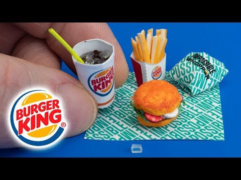 How to make a mini Burger King menu Impossible Whopper, French Fries, Drink – Tutorial