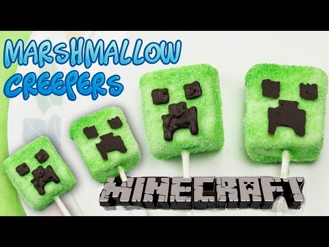 Minecraft Creeper Marshmallow Lollipop/Pops Party Treats – Super Easy and Fun(No Bake)