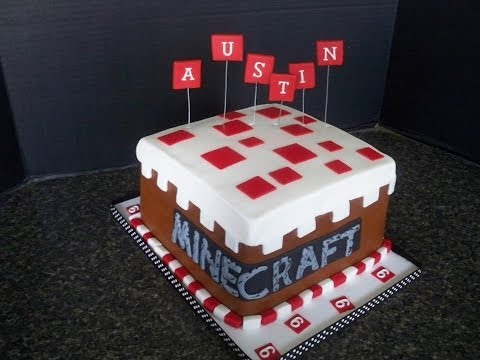Making the Minecraft Cake!