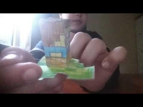 (Diy) minecraft toy,paper craft