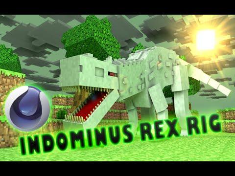 Minecraft Cinema4D: Indominus Rex Rig!!