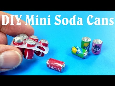 DIY Miniature Soda Cans Six Pack – Dollhouse DIY
