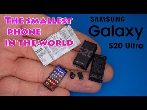 DIY Miniature SAMSUNG Galaxy S20 ultra | DollHouse | No Polymer Clay!
