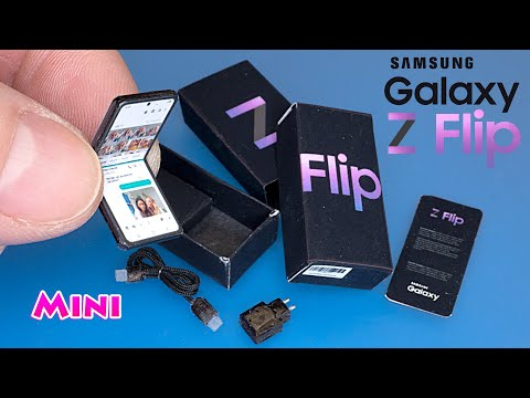 Mini Samsung Galaxy Z Flip unboxing. How to make Realistic Miniature – Tutorial