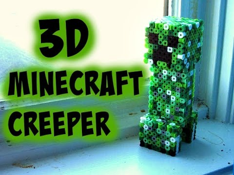 3D Perler Bead Minecraft Creeper Figure (FULL TUTORIAL)