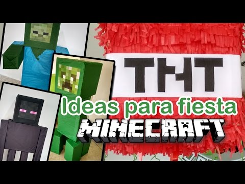 MINECRAFT BIRTHDAY PARTY IDEAS FIESTA TEMÁTICA