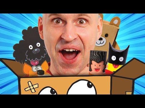 Papp blir til alt! 📦 Kattedo, Minecraft, hundeseng & papphus | Øisteins Blyant
