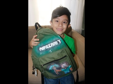 make an awesome  DIY minecraft steve school backpack timelapse