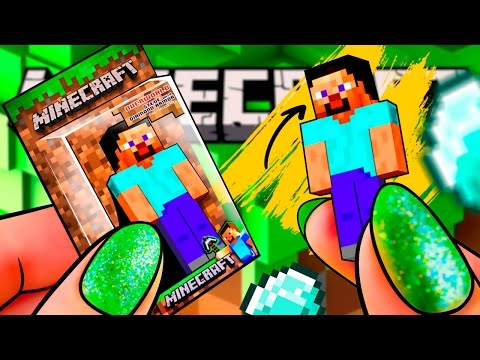 Miniature MINECRAFT Steve TOY – REAL Toy For Doll! | DollHouse DIY ♥