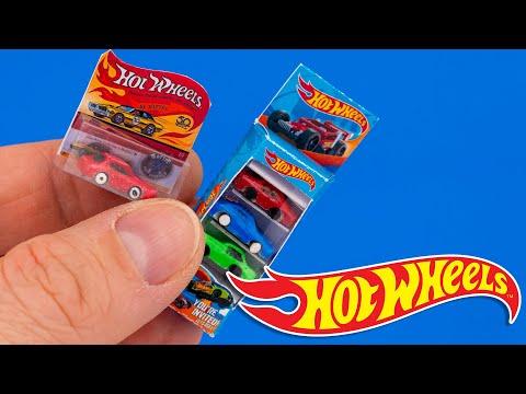 DIY Hot Wheels car set Miniature | DollHouse | No Polymer Clay!
