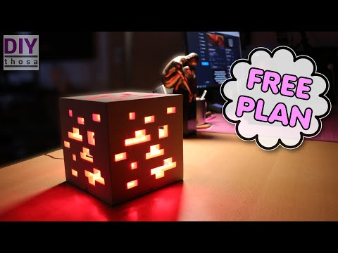 DIY LED Minecraft RedStone Lamp – FREE PDF Plan Download