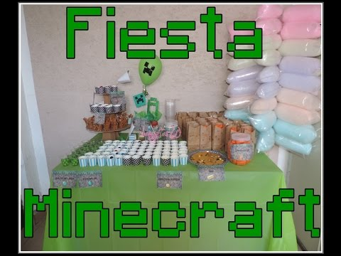 Decoración Fiesta/ Party Minecraft