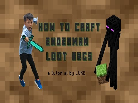 Minecraft Party Theme: How to make Enderman Loot Bags