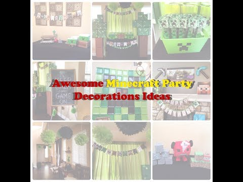 This Minecraft Party Decorations Ideas is Awesome, Check This Out!