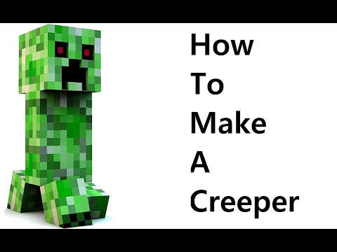 How to make a paper Creeper ( Minecraft ) Papercraft toy. Easy to make. Papercraft Minecraft