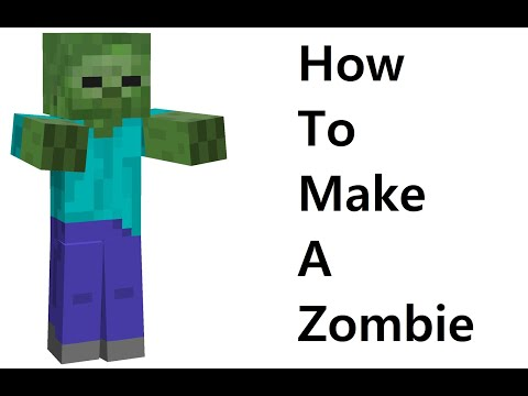 How to make a paper Zombie ( Minecraft ) Paper toy. Easy to make. Papercraft Minecraft