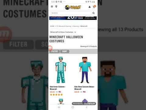 Minecraft Halloween costume review (ft tsmc minecraft)