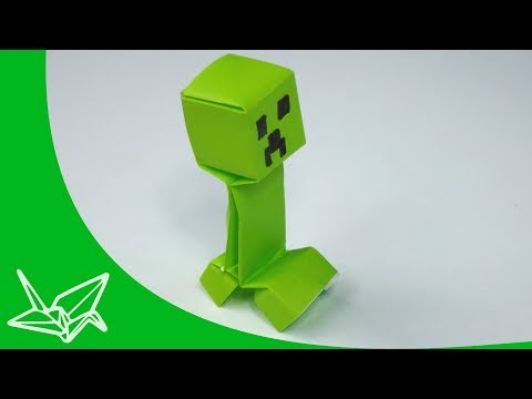 Minecraft Creeper Origami