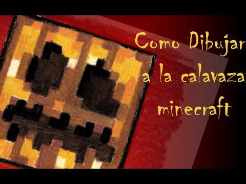 Cómo dibujar una Calabaza de Halloween (Minecraft)