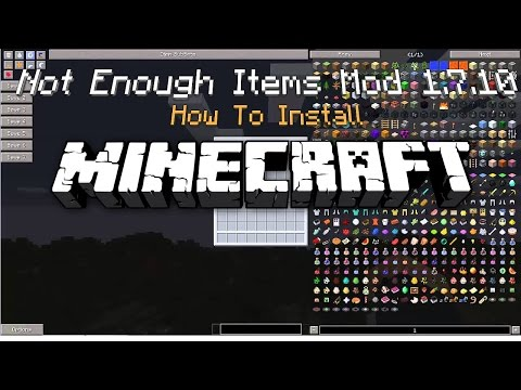 Minecraft How To Install – Not Enough Items Mod 1.7.10