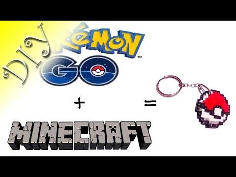 Keyring Pokeball.Tutorial.DIY.Pokemon GO+Minecraft.Polymer clay