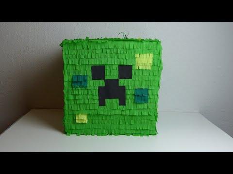 DIY: How to make a Minecraft Creeper Pinata